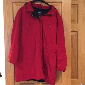 Basic Editions Red Winter Jacket XL